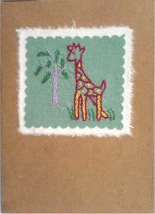 Batsiranai Fair Trade Hand Embroidered Card