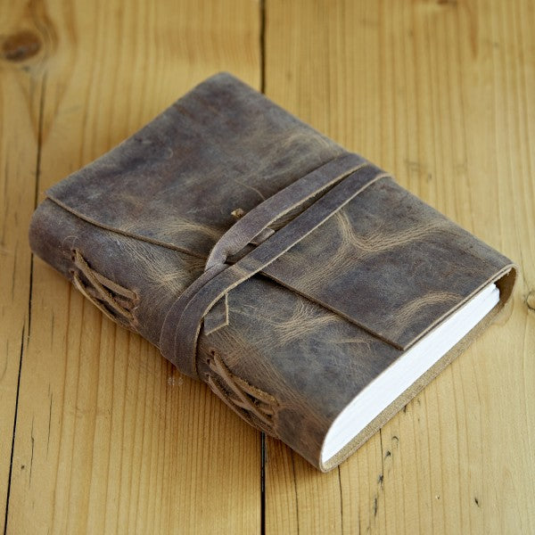 Paper High Buffalo Leather Wraparound Journal