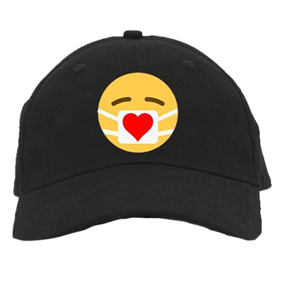 Embroidered Heart Mask Hat