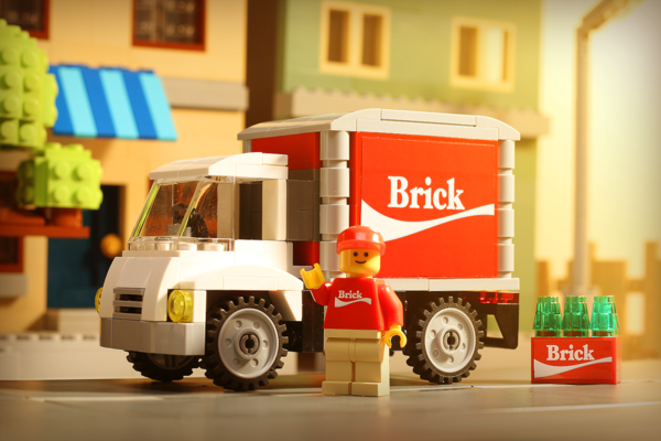 Brick Soda Delivery Truck