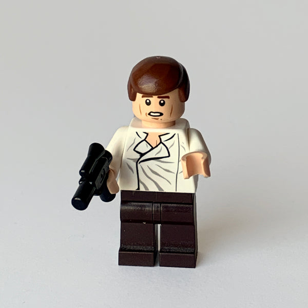Han Solo - White Shirt - Dark Brown Legs (BAM0021)
