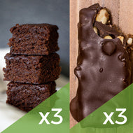 3 Brownies de Chocolate + 3 Snickers de Maní