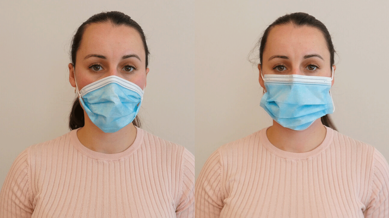 how to adjust face mask earloops