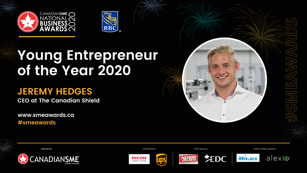 The Canadian Shield CanadianSME Young Entrepreneur of the Year Award 2020 - Jeremy Hedges