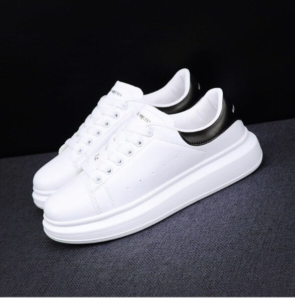 New 2020 Men's White Sneakers Women's Fashion Vulcanize Shoes size 35-44 High quality HIP HOP Shoes Platform Lace-up running Sho