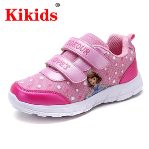 Kids Princess Shoes Children Cartoon Sport Shoes Leather Spring New Girls Boys Shoes Breathable Easy Hook Shoes  Comfortable Sho