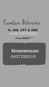 Furniture Deliveries available to JHB, CPT and DBN
