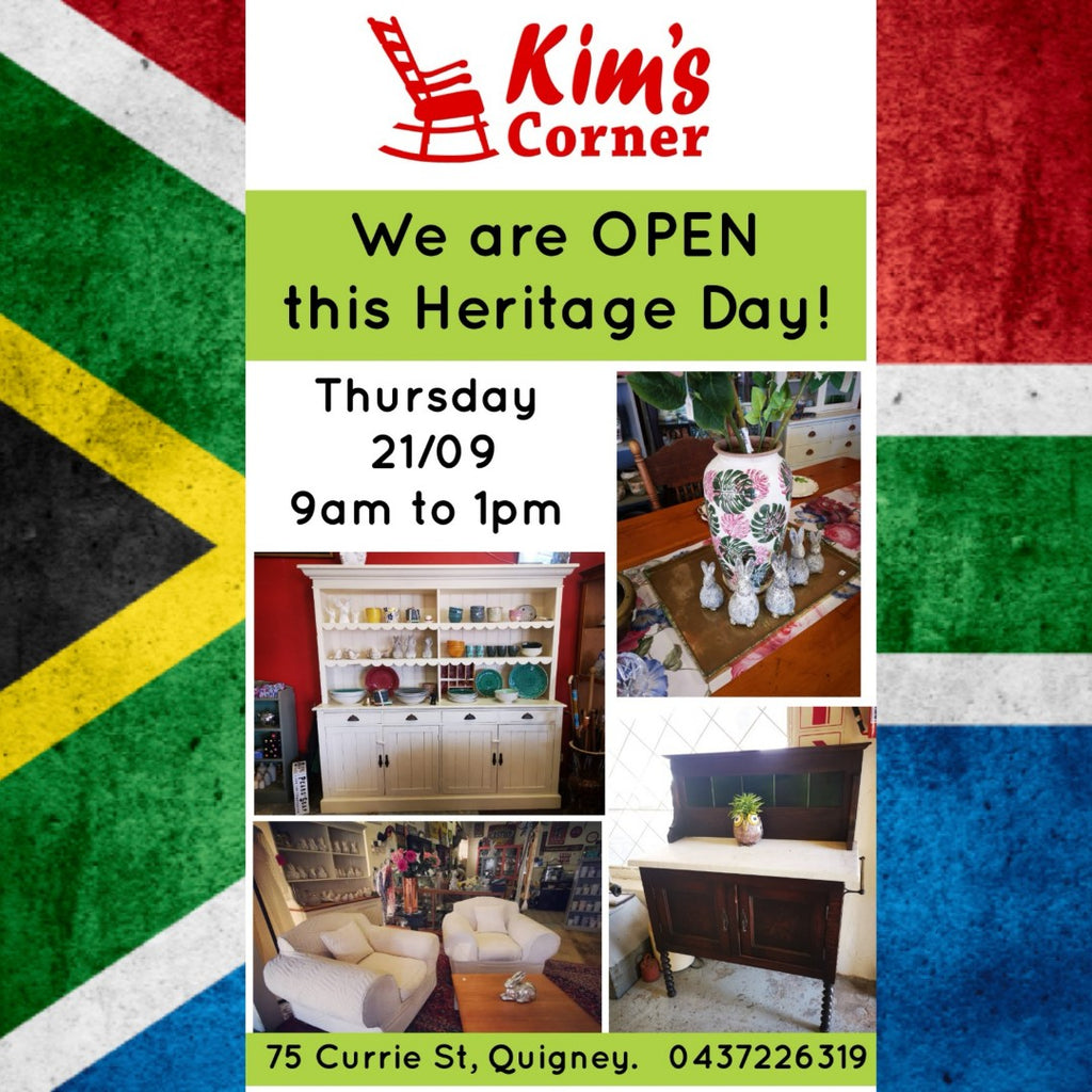 Kims corner is OPEN on Heritage Day