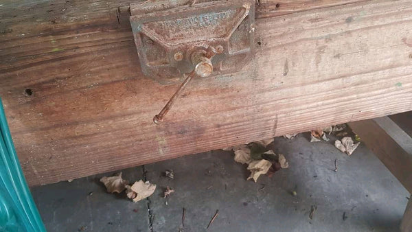 large old workbench / outdoor table