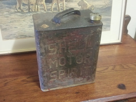 Shell Motor Spirit Can