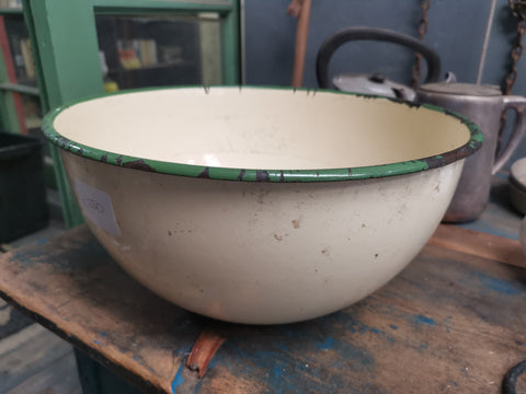 old enamel bowl