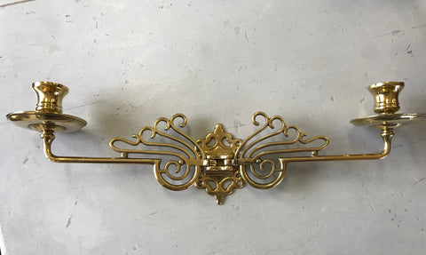 Brass candle holder / sconce