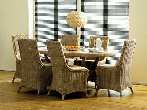 Amalfi 6 Seat Dining Table Set