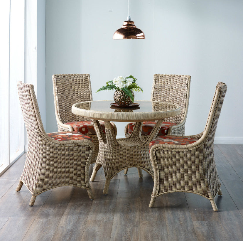 Amalfi 4 Seat Dining Table Set