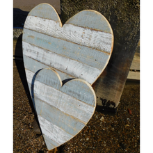Load image into Gallery viewer, Grey Wooden Hearts