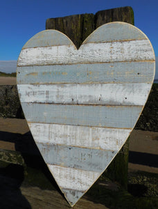 Grey Wooden Hearts