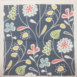 Paper Napkin - Flower meadow blue