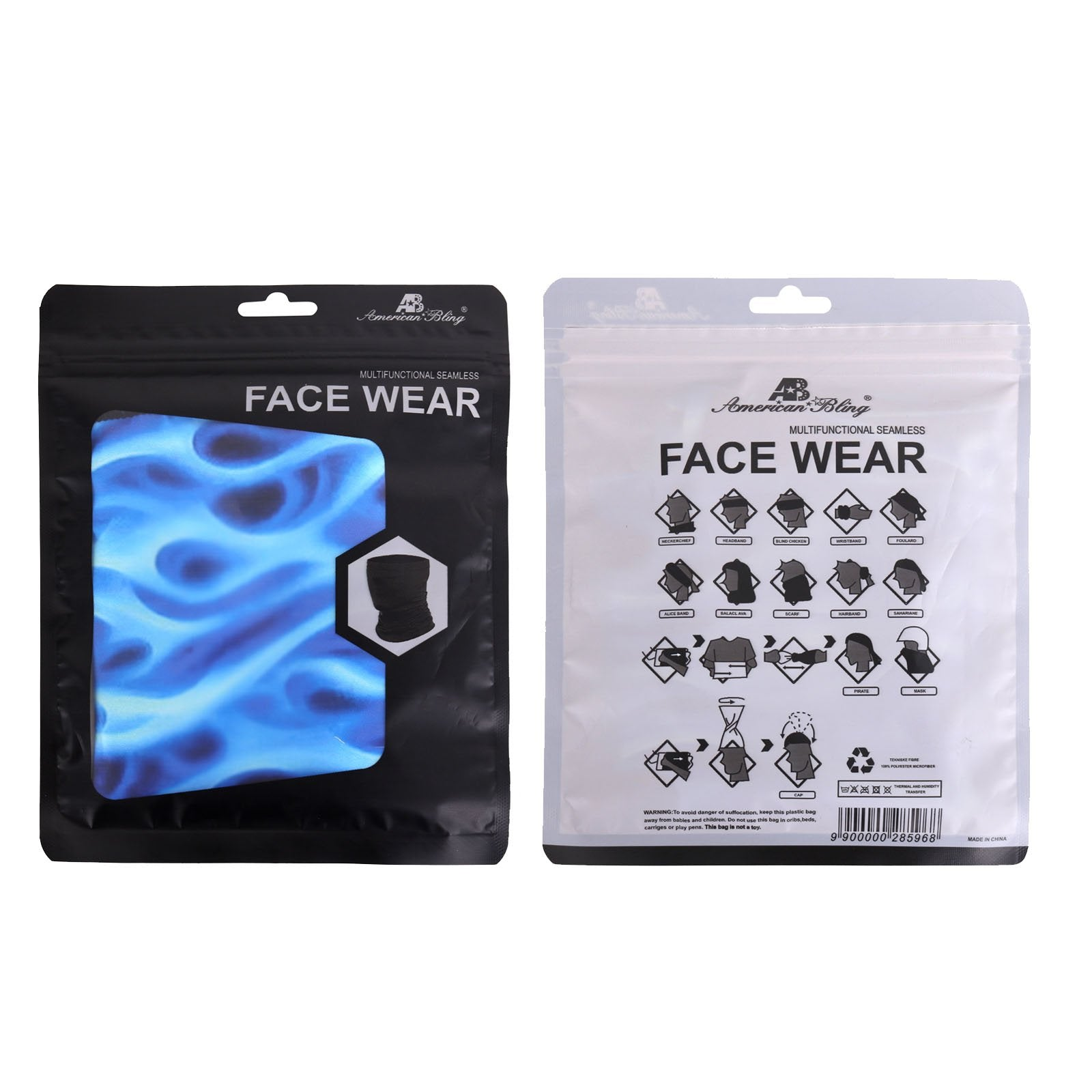 NFC-9005  Neck Gaiter Face Mask Reusable, Washable Bandana /Head Wrap Scarf-1Pcs/Pack