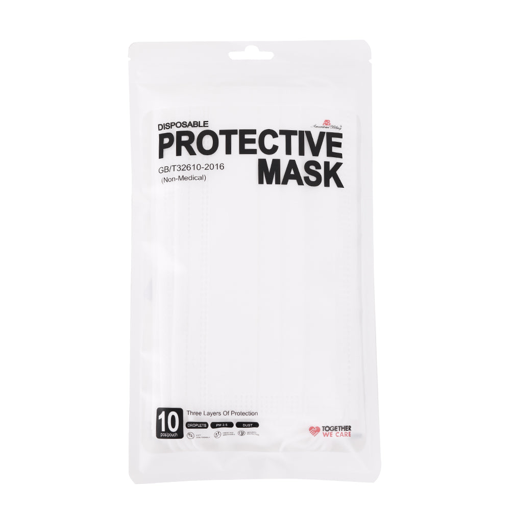1600PCS White Disposable Face Masks 3 Layers  Protective Cover Masks