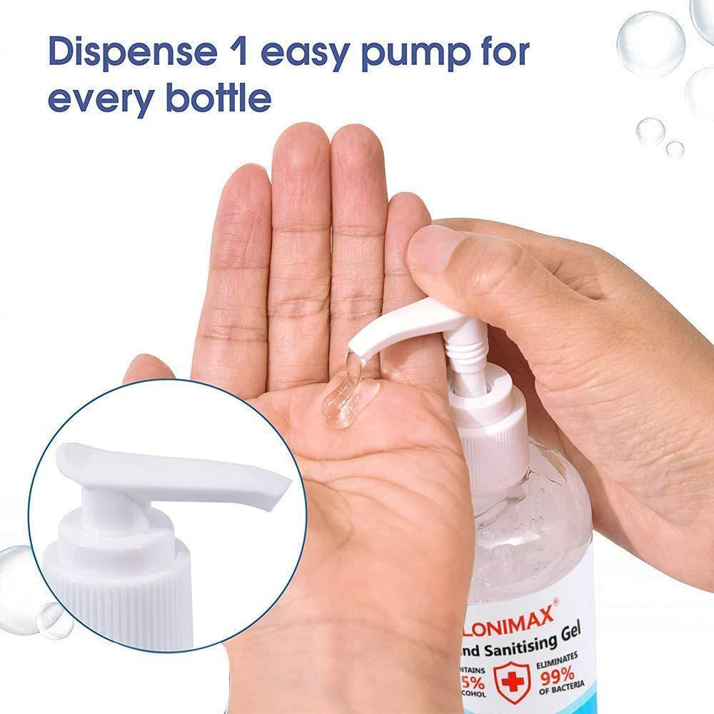 8.45 Fl Oz, Bottle of 12  Gel Hand Sanitizer with Aloe Vera Disinfectant Alcohol Liquid 75%