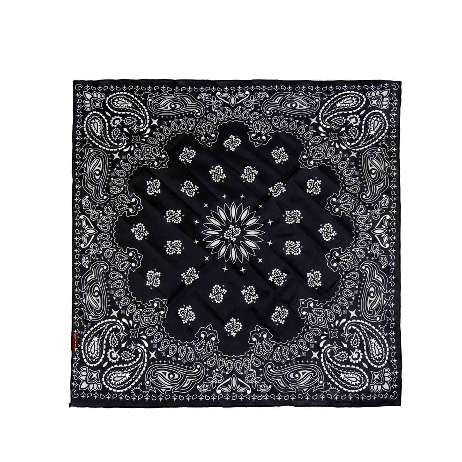 BDN05  American Bling Paisley Mandala Print Bandana- Assorted Colors (12 PCS)