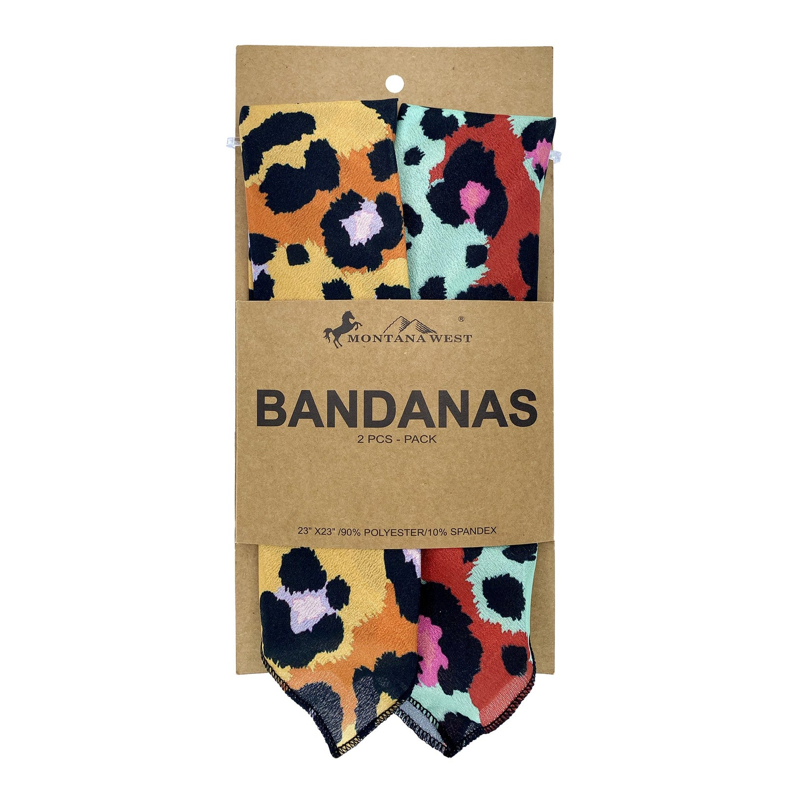 BDN10  American Bling Leopard Print Bandana- Assorted Colors (12 PCS)