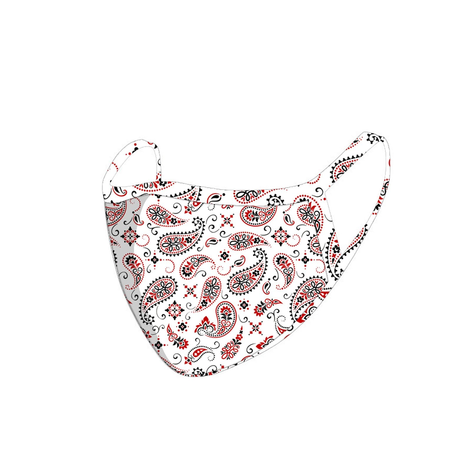 FCM-055 American Bling Paisley Collection Fabric Face Mask Double Layer -1Pcs