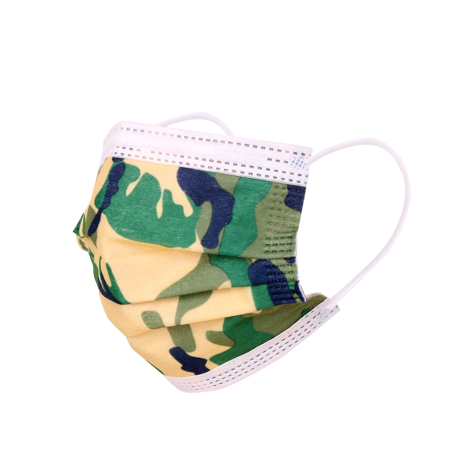 2000Pcs American Bling Kids 3 Ply Disposable Assorted Color Camo Print Face Mask  (20Pcs/Box)