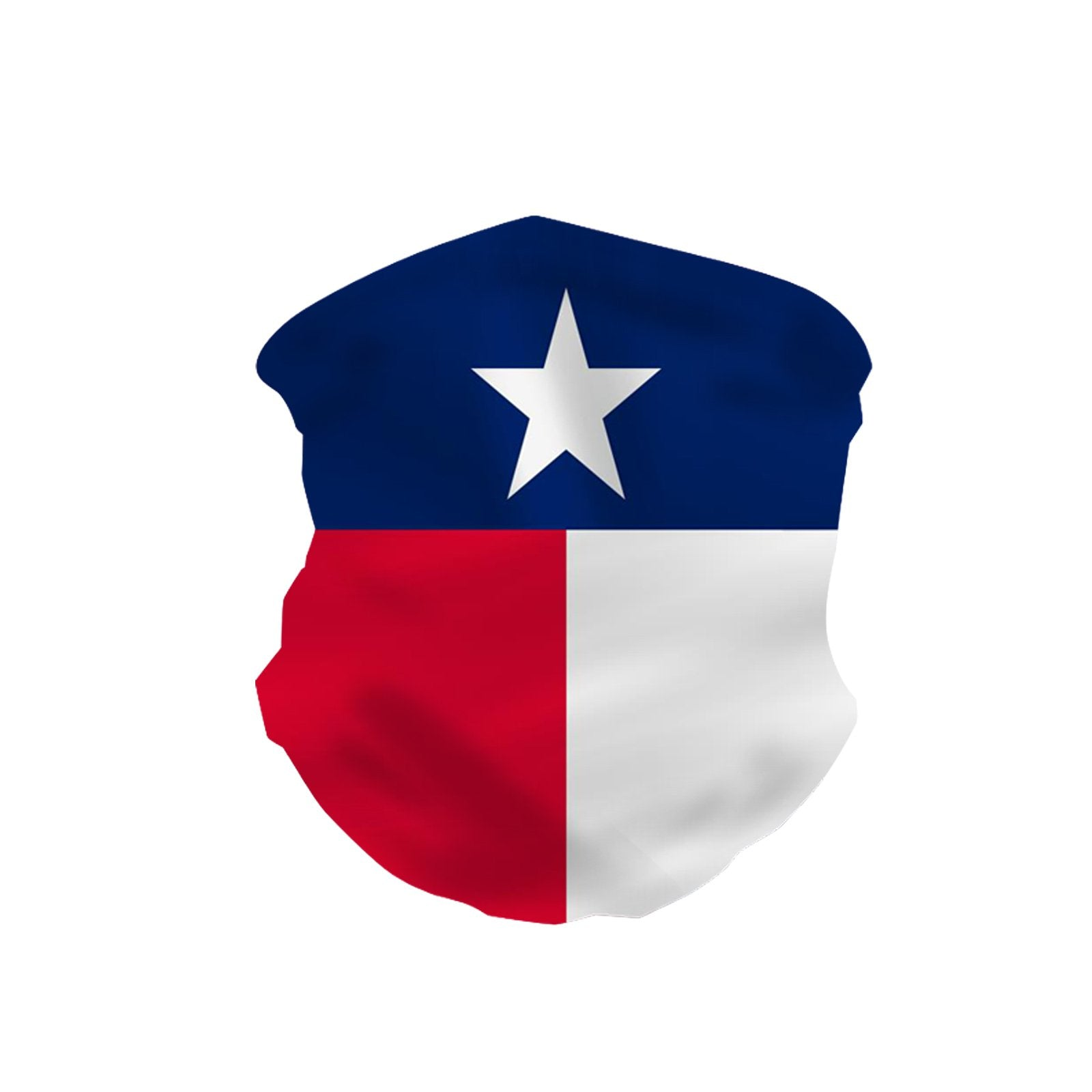 NFC-9015  Texas Flag Print Neck Gaiter Face Mask Reusable, Washable Bandana /Head Wrap Scarf-1Pcs/Pack