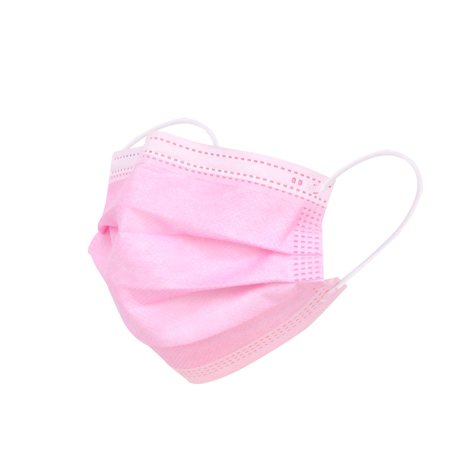 1000PCS Pink Disposable Face Masks 3 Layers  Protective Cover Masks