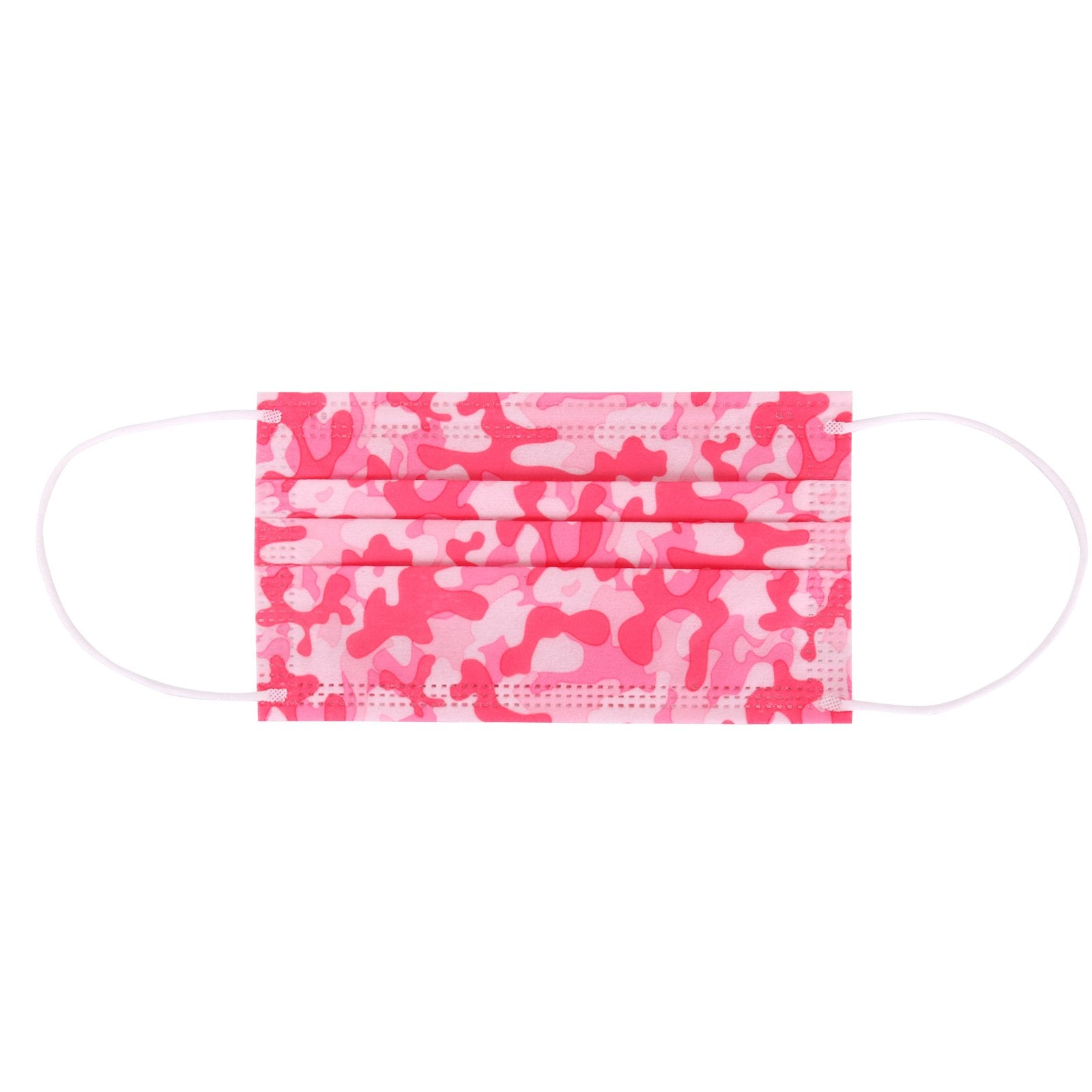 20 Pcs American Bling 10Pcs/Pack Pink Camo Print 3Ply Disposable Face Masks