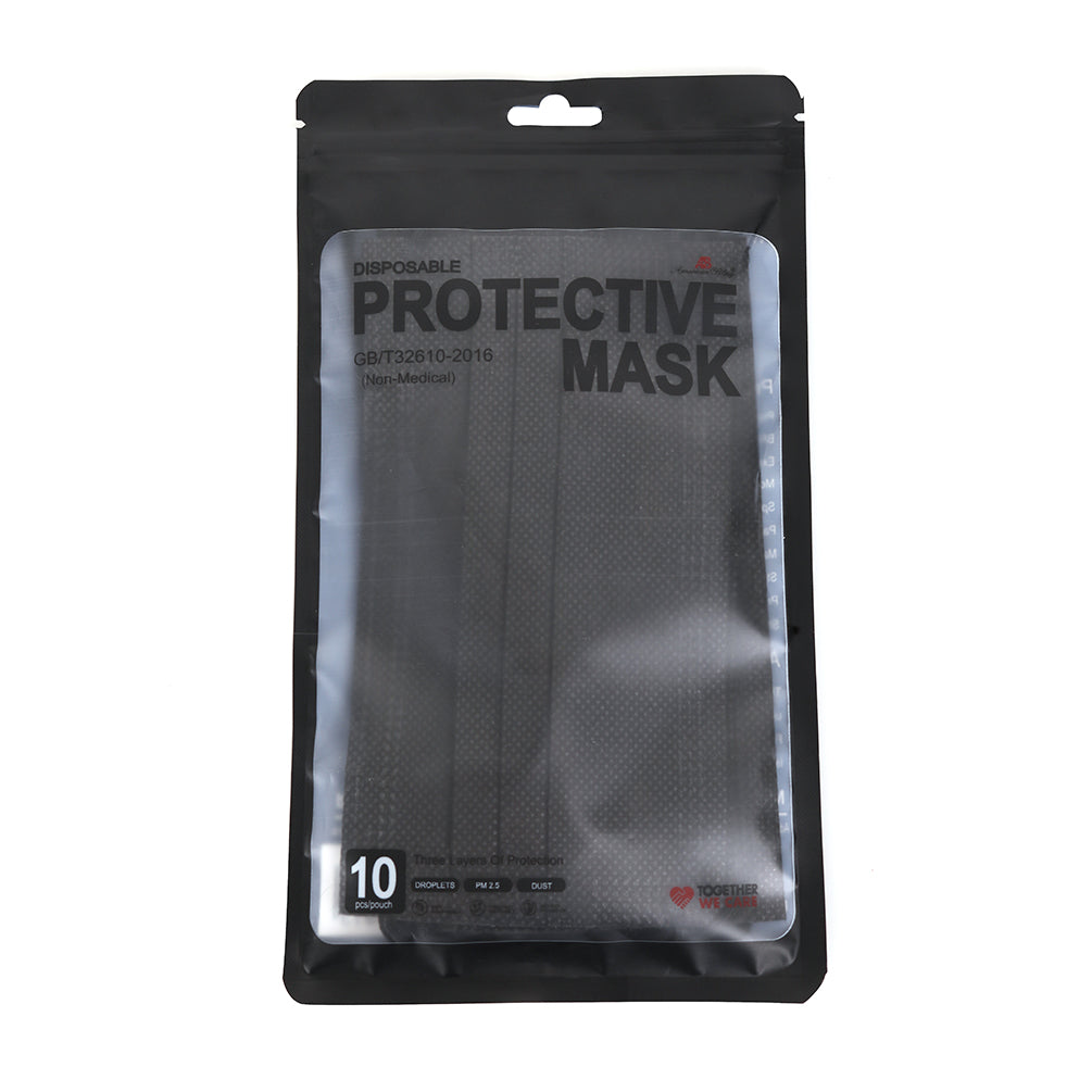 1000PCS Black Disposable Face Masks 3 Layers  Protective Cover Masks