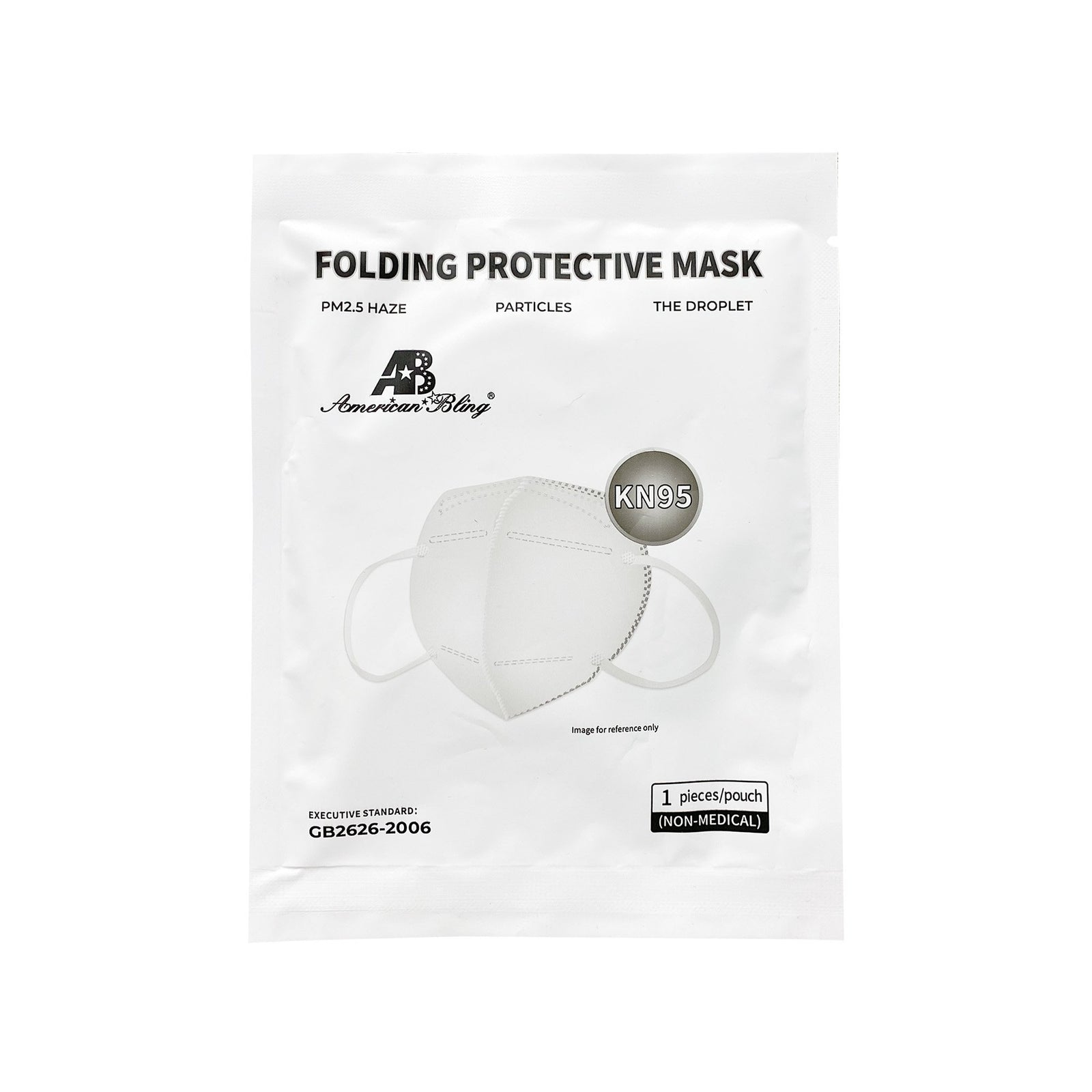 50 Pcs KN95 Disposable Folding Protective Cover Face Masks