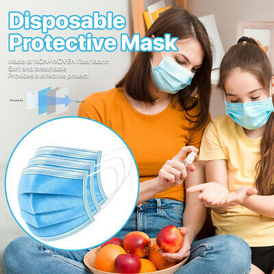 2000PCS Blue Disposable Face Masks 3 Layers Protective Cover Masks