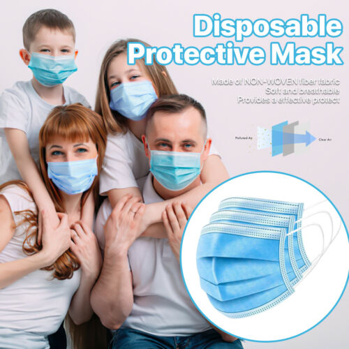 1000Pcs American Bling Disposable Face Masks 3 Layers  Protective Cover Masks