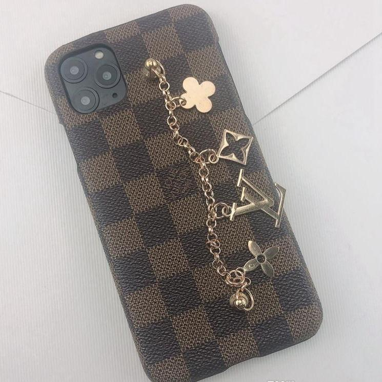 LV DE Brown Checkered iPhone Case - Vixen Boxx