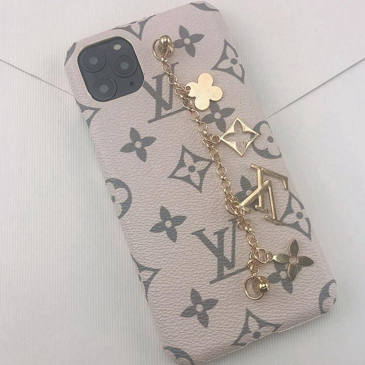 PRE-ORDER: LV Monogram iPhone Case - Pink and Gray - Vixen Boxx