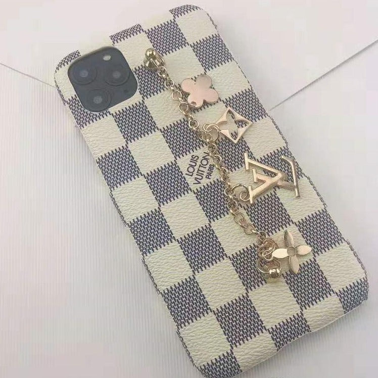 PRE-ORDER: LV DE Ivory Checkered iPhone Case - Vixen Boxx