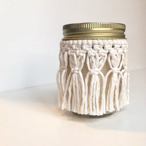 Macrame Skirt and Candle