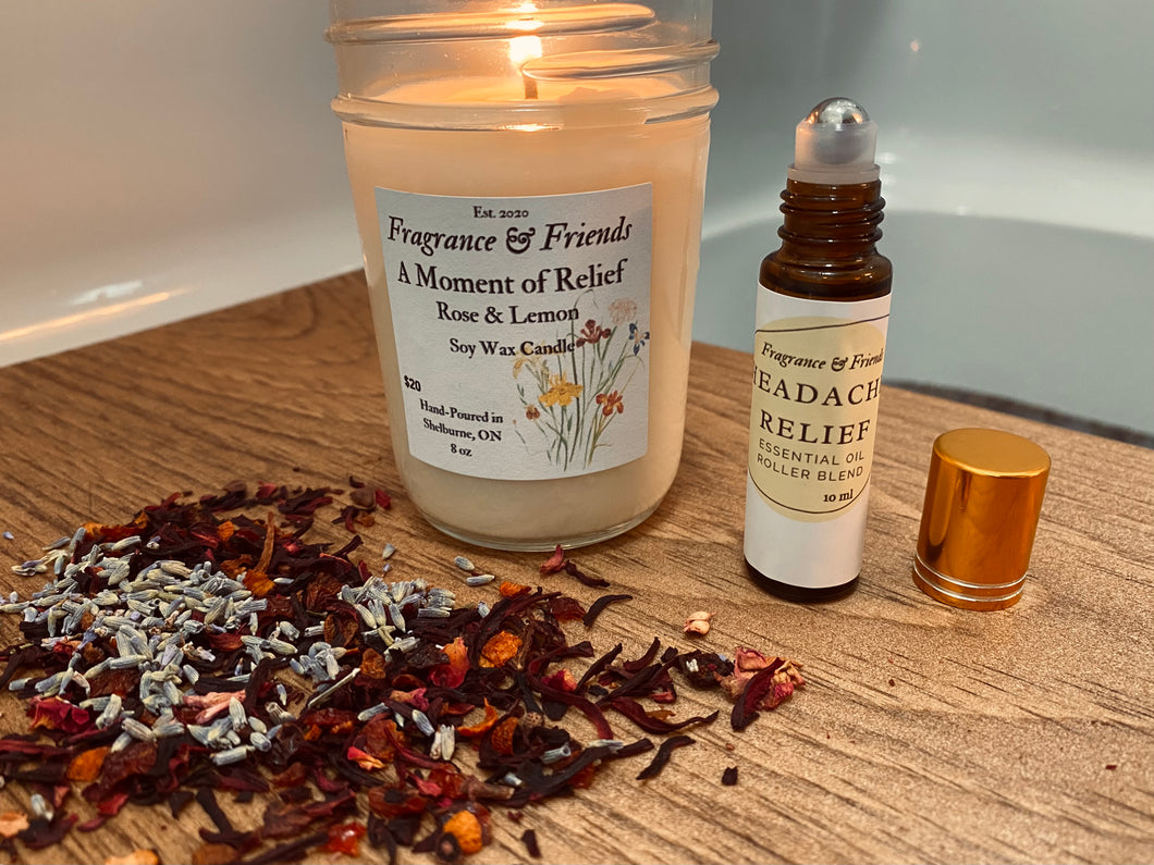 A Moment of Relief Candle