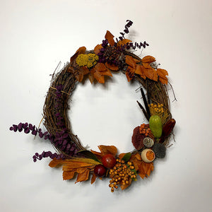 autumn grapevine wreath