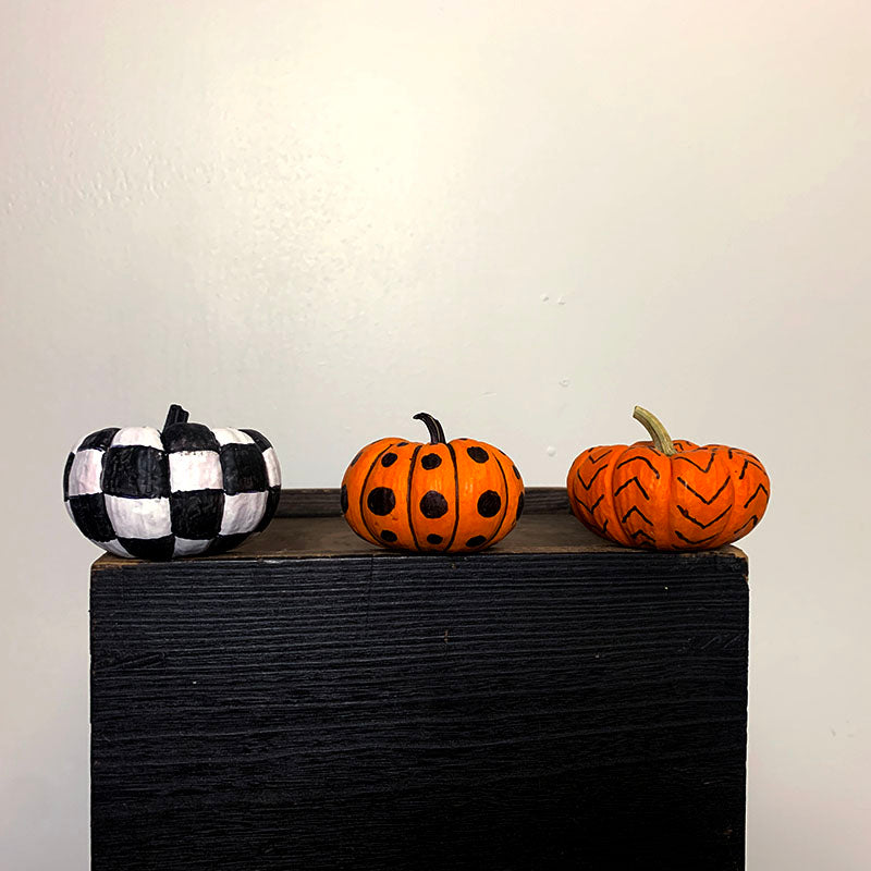 small painted pumpkins