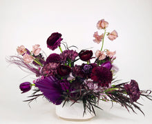 Load image into Gallery viewer, fresh purple floral arrangement