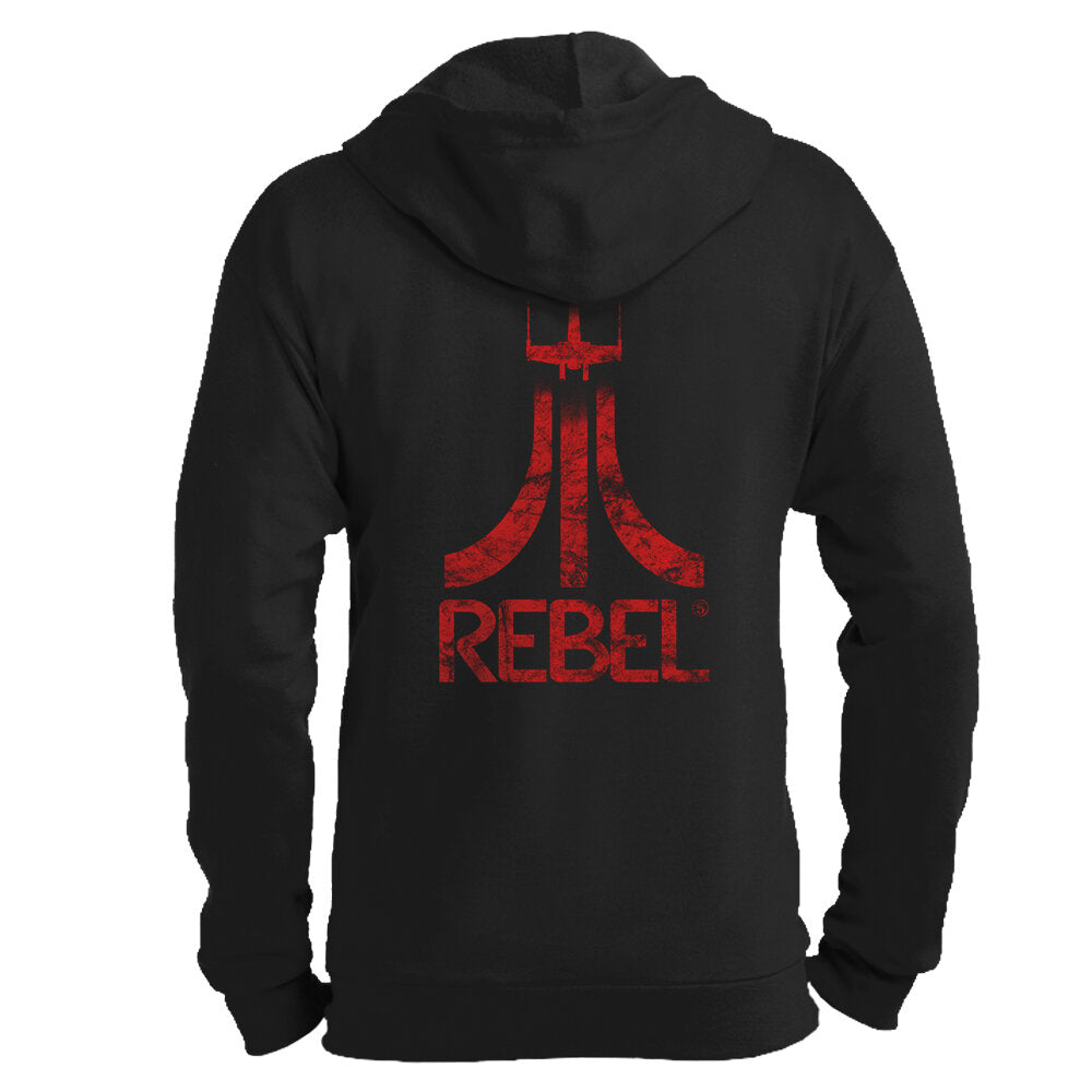Rebel Gamer Zip Hoodie - GraphicLab Tees