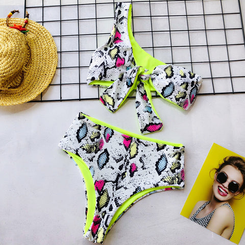 Maria Single Hand High Waist Two Sided Bikini Swimwear