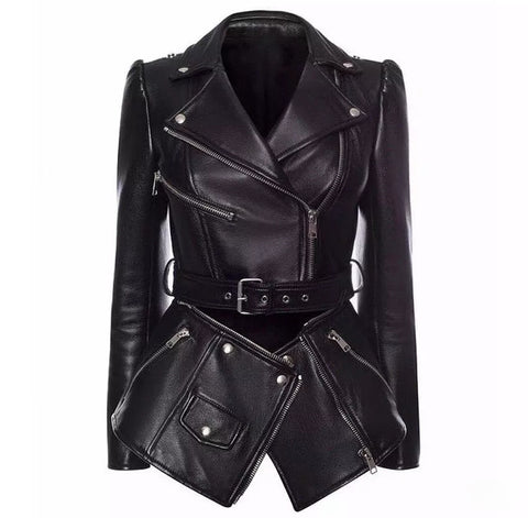 The Fashionista Leather Detachable Zipper Jacket