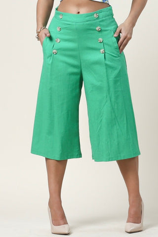 All About Me Wide Leg Bermuda Pants