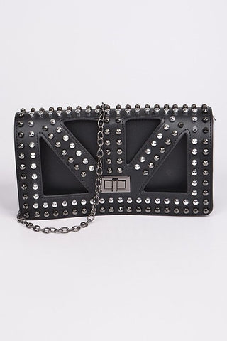 The Gothic Metal Studded Clutch