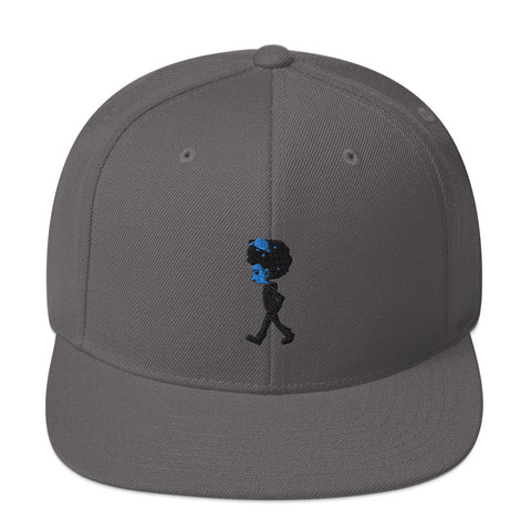 xDMWDx First Edition Black & Blue Logo Snapback Hat
