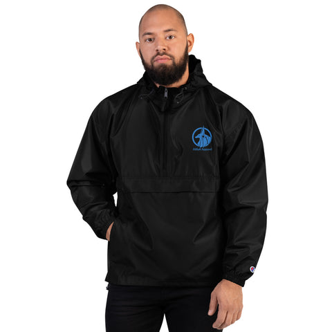 AliBaK Embroidered Logo Champion Packable Jacket - Blue Logo